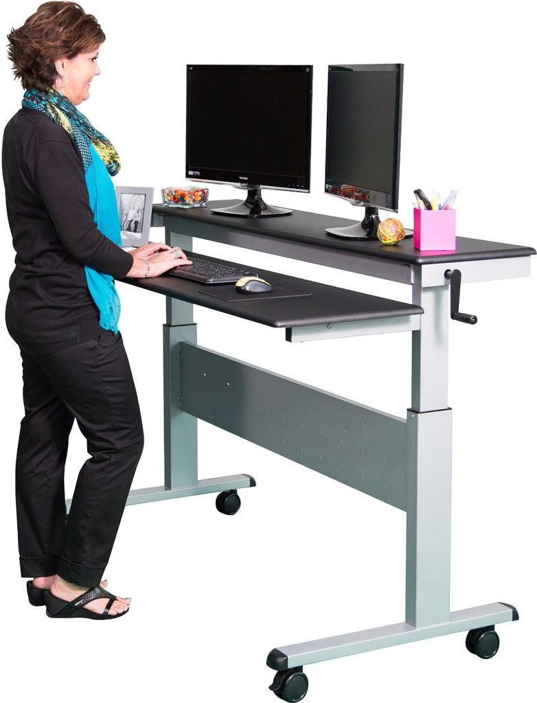 the best standing desks with wheels for every budget. Black Bedroom Furniture Sets. Home Design Ideas